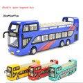 Modelos de Aleación De fundición a presión de doble capa 1947 autobús de la puerta GUERRERO bus modelo de coche de juguete