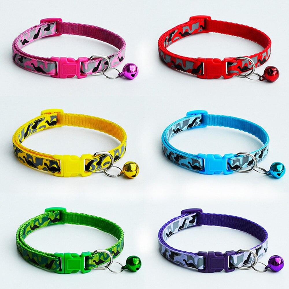 120 pcs lot Nylon Adjustable Camo Camouflage Dog Collar Nylon Puggy Dog Pet Collar