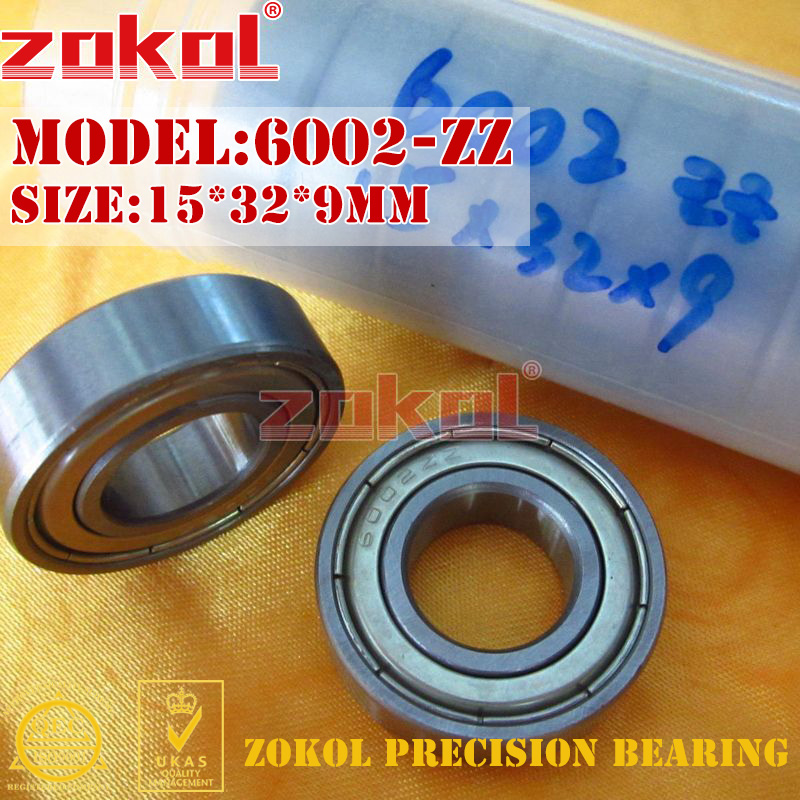 ZOKOL 6002ZZ bearing 6002 ZZ 80102 Deep Groove ball bearing 15*32*9mm new lepin 22001 pirate ship imperial warships model building kits block briks funny toys gift 1717pcs compatible 10210