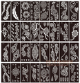 50pcs/lot henna tattoo stencils for painting body art glitter tatoo stencil templates on hand feet Indian Arabic designs sheets