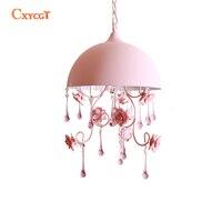 Tiffany Pink Kid S Children Girl S Room Pendant Light Ceramic Lampshade Flower Lamp For Princess