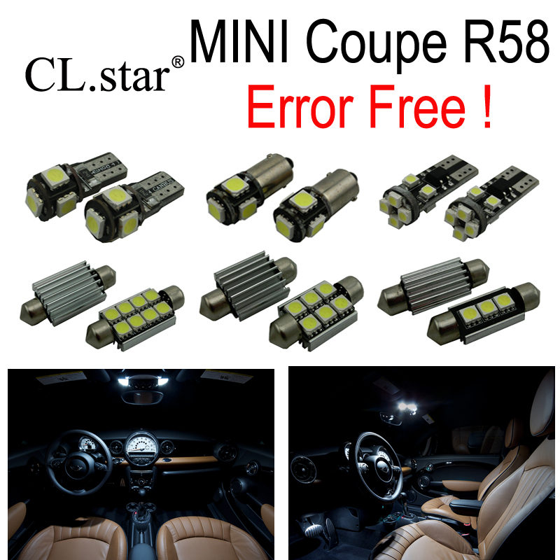12pc X Canbus Error free LED Interior dome reading Light lamp Kit Package For MINI Cooper Coupe R58 (2012-2015) 18pc canbus error free reading led bulb interior dome light kit package for audi a7 s7 rs7 sportback 2012