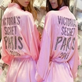 New Summer Fashion Glitter Stone Sexy Secret Robes Women Medium Sleepshirts Quality Bathrobe Ladies Robes Show