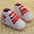 Cute Baby Infant Cotton Canvas Toddler Newborn Soft Sole Anti-slip Walker Sneaker Shoes 3 Colors Size S M L