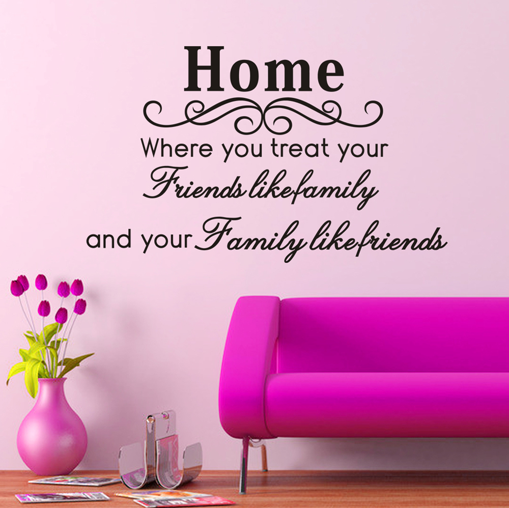 Aliexpress com   Buy  Friends Like Family and Family Like Friends   Quotes  and Sayings Wall Decals Living Room Bedroom Removable Wall Stickers Murals  from. Aliexpress com   Buy  Friends Like Family and Family Like Friends