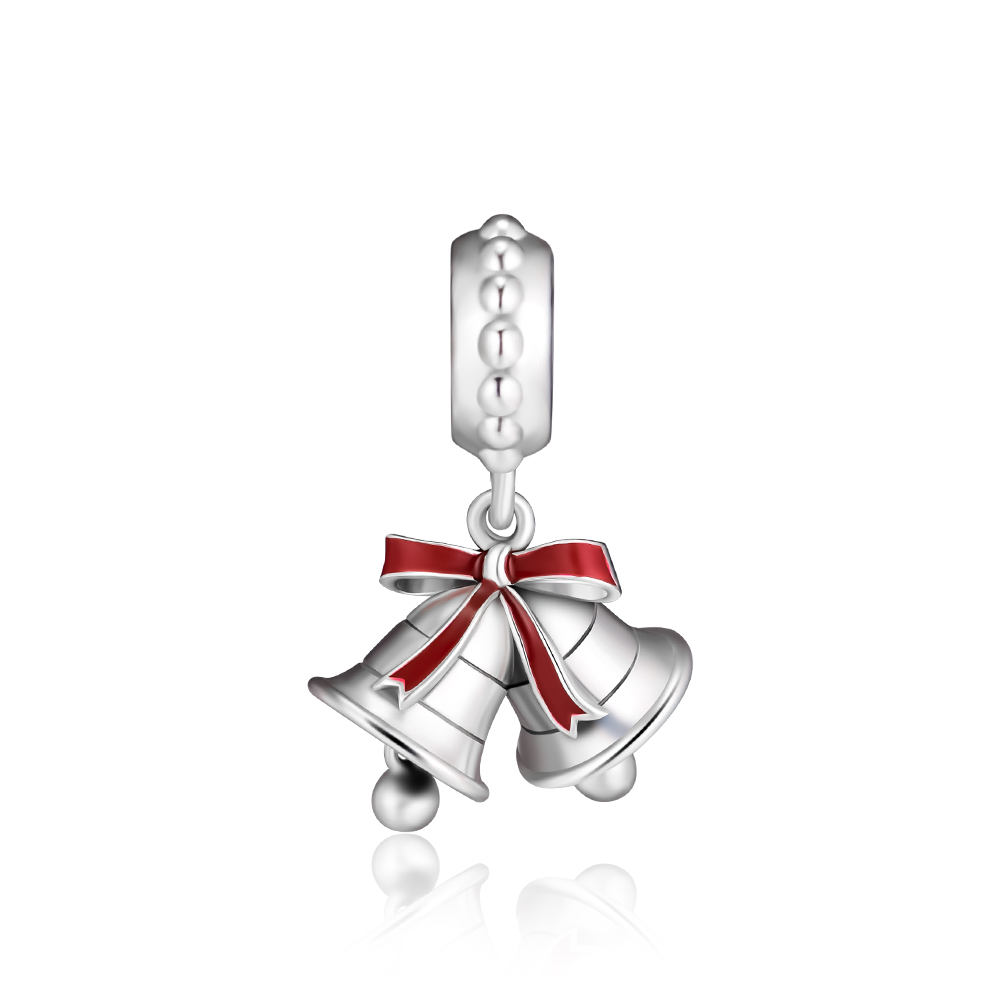CKK Fits For Pandora Charms Bracelets Festive Bells Beads 100% 925 Sterling-Silver-Jewelry