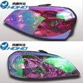 0.3*2 m película de la lámpara Auto Car Styling coche camaleón Tinte Cambio de Color de Cubierta de la Lámpara Antiniebla Trasera de la linterna Película del Vinilo Hoja etiqueta