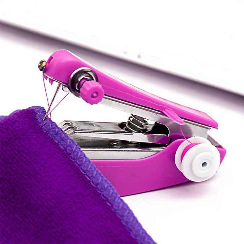Handheld Sewing Machine Mini Cordless Handheld Electric Sewing Machine Quick Handy Stitch Fabric Clothing Kids Cloth Portable