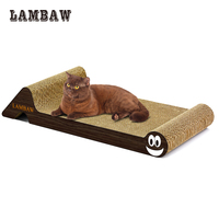 Cat Scratcher 60 Long Cat Bed Lounge Earthworm Cardboard Paper High Quality Cat Toy Scratching Pad