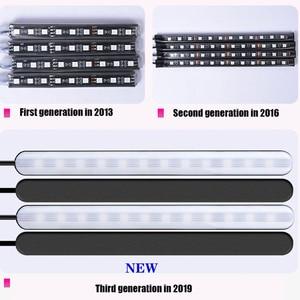 Image 2 - אווירת המכונית אור רגל אור USB/מצית שלט רחוק APP פנים דקורטיבי הסביבה LED מנורת רצועת אבזרים