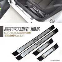High quality ABS Scuff Plate/Door Sill Protector Sticker Car Styling For Volkswagen Golf 7 2013 2014 2015 2016 2017 2018