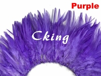 EMS free shipping 1kg/lot Purple color Dyed chicken Feather strungs 6 8 rooster hackle Feather strips sewed by thread
