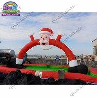 АРКА Санта Клауса на открытом воздухе фестиваля украшения рождества раздувная, Арка Рождества 6 м раздувная для рекламы