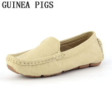 Childrens Soft Bottom Leather Casual Shoe Boys And Girls non-slip Wear Durable Comfortable Flat Shoes GUINEA PIGS Brand