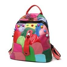 Lavimos Мода Совместное Пояса из натуральной кожи овчины Для женщин рюкзак Школьные сумки женские Сумки на плечо для подростков путешествия Сумки