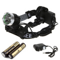 2000 Lumen CREE XML T6 Headlight,Headlamp,Fishing,Head Lamp Light+ 2pcs 18650 4000 MAH battery+ Charger