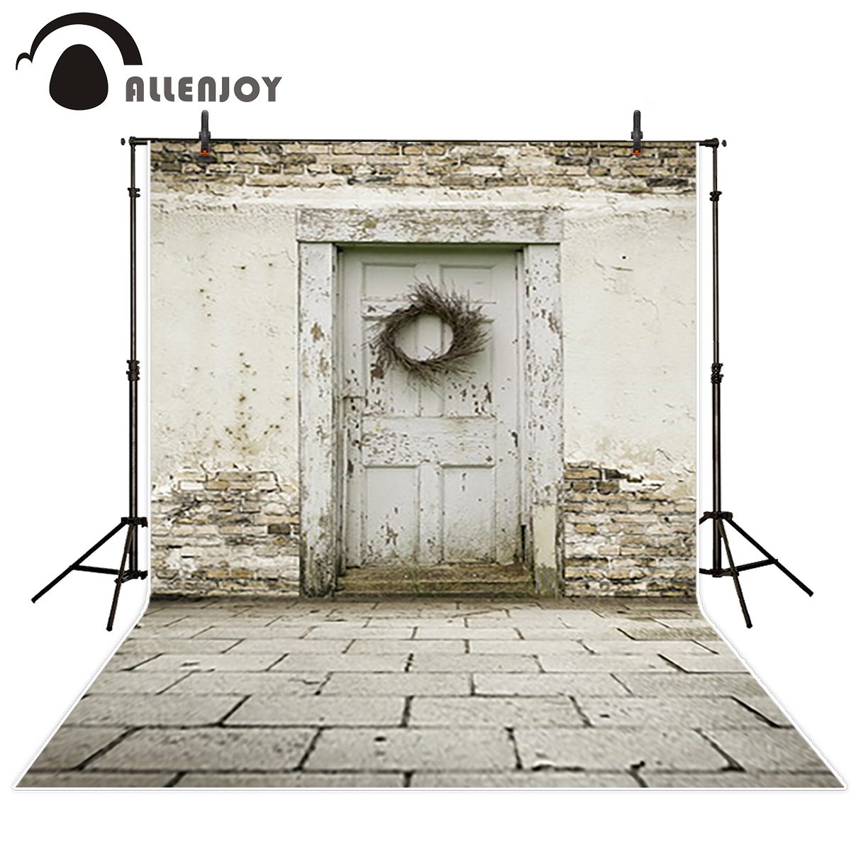 Allenjoy vinyl backdrops for photography distressed Wood board Retro natural Background for photo Photo studio Background