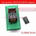 Высочайшее Качество TSOP48 в DIP48 Гнездо Адаптера, адаптер TSOP48 0.5 мм Шаг/можно использовать PEB-1 платы Расширения для RT809F программист