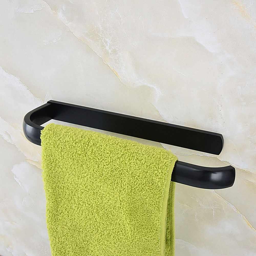 קיר רכוב שחור שמן שפשף עתיק פליז חד אמבטיה בר מגבת רכבת אבזר mba187