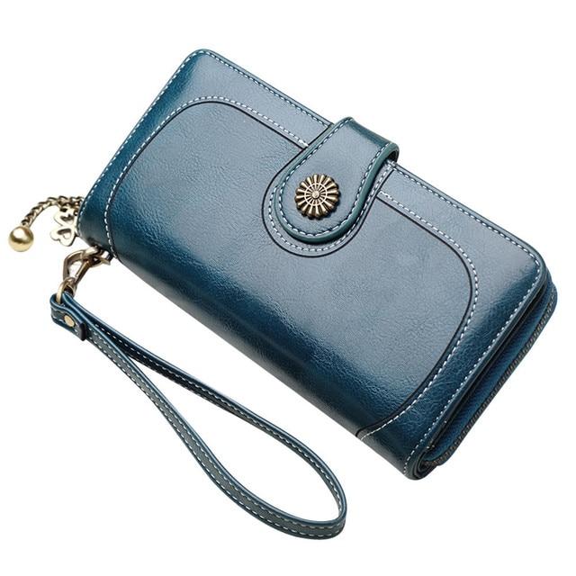 075ce003c745 US $11.03 15% OFF|Hot Sale Women Clutch bags 2018 New Wallet Split Leather  Wallet Female Long Wallet Women Zipper Purse Strap Coin Purse #6C-in ...