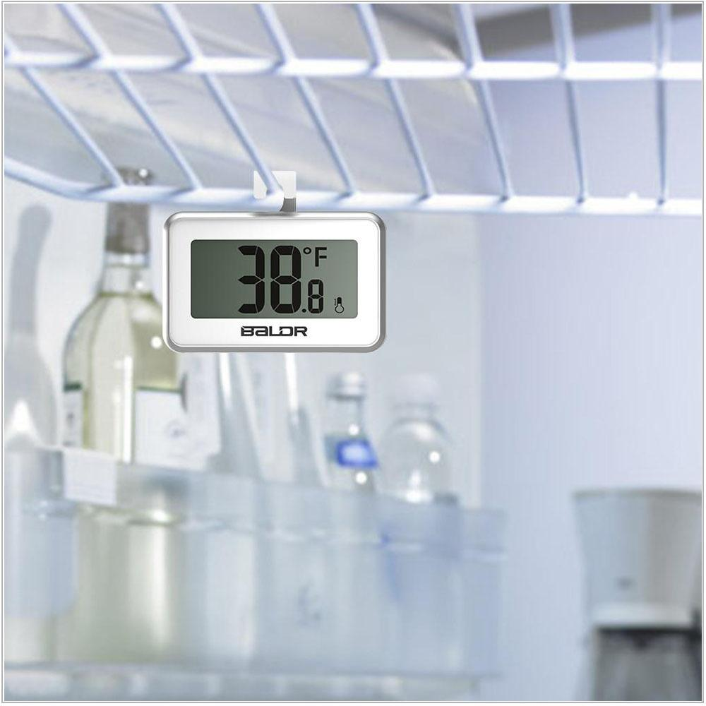 Baldr Mini LCD Digital Thermometer Fridge Magnet Probe Refrigerator ...