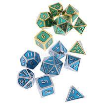 14x многогранный сплав кубики D4-D20 для подземелья и драконов игровой реквизит подарок