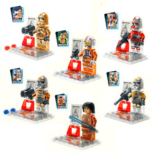 2015 New Arrival Star Wars 7 Racial War Clone  Assembly Minifigure Transparent Crystal Luminous Star War Classic Building Toys