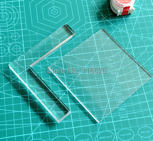 10x10cm rubber stamp coloring board locating clear Acrylic Pad positioner