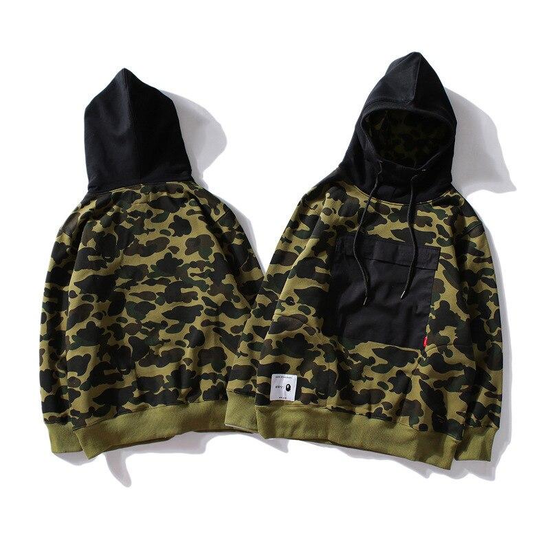 6f0529b2f6ee a bathing ape shark hoodie sweatshirt Camouflage half sleeve Paris limited bathing  ape