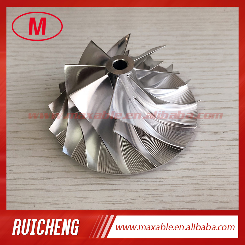 HX40 58.00/83.03mm 8+8 blades high performance turbocharger billet/milling/aluminum 2618 compressor wheel-in Air Intakes from Automobiles & Motorcycles    1