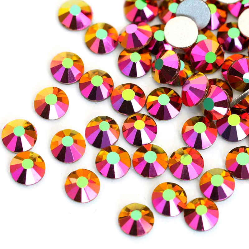 9e3339009c 2028 SS12-SS34 Multicolor Glass Non Hot Fix Rhineston Crystal Glass Strass  Non Hotfix Rhinestones For Nail Art Decorations B3398