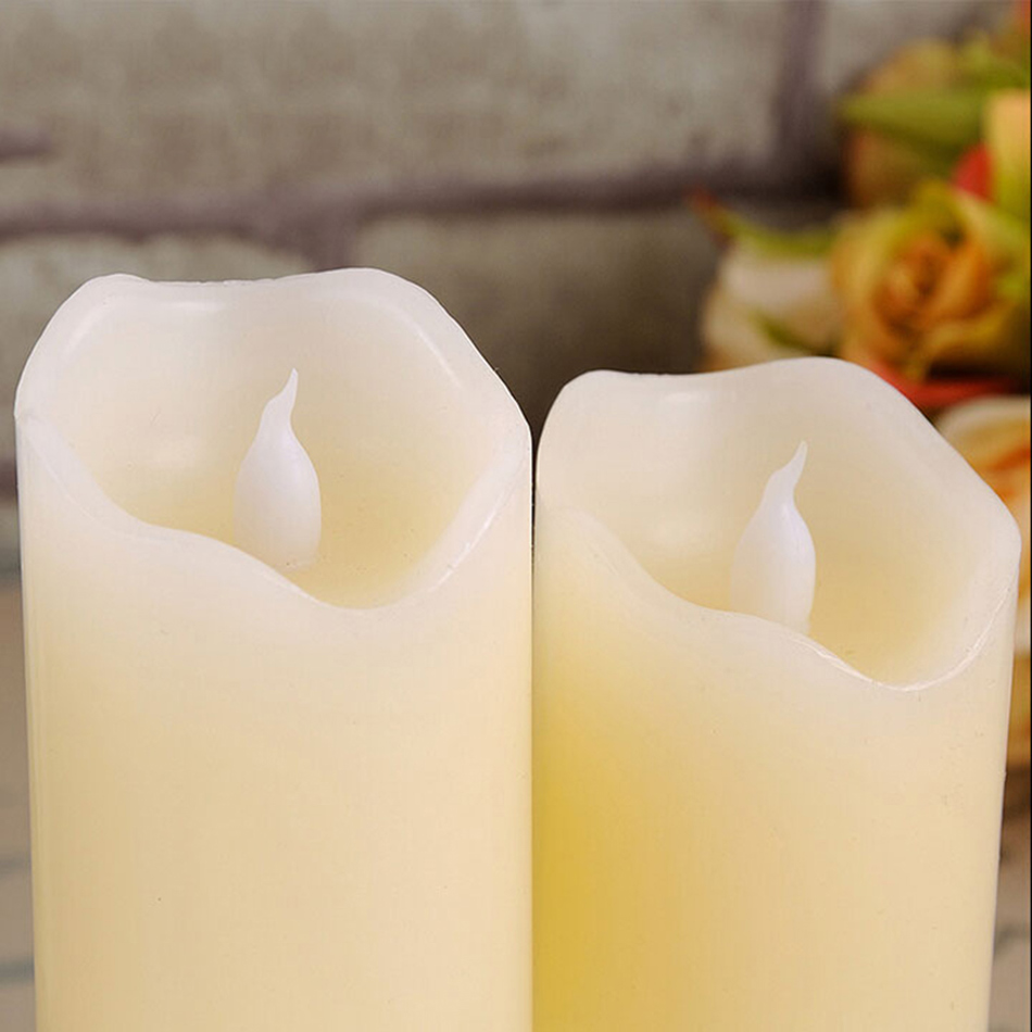 flameless uneven edge electrical paraffin wax led candle for wedding