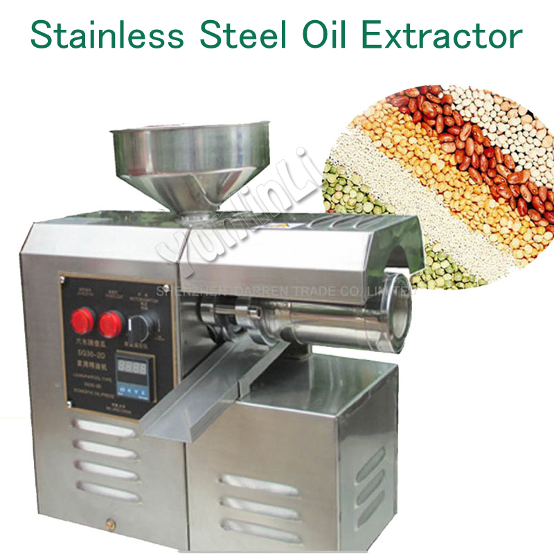 Household Oil Press Stainless Steel Oil Extractor Peanut/ Sesame Oil Pressing Machine SG30-2D High Yield Powerful Mill utilization of palm oil mill wastes