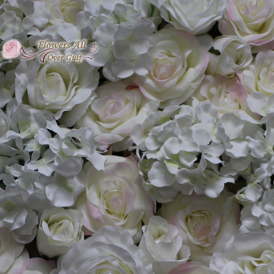 New Wedding Decoration Artificial White And Pink Side Rose And White