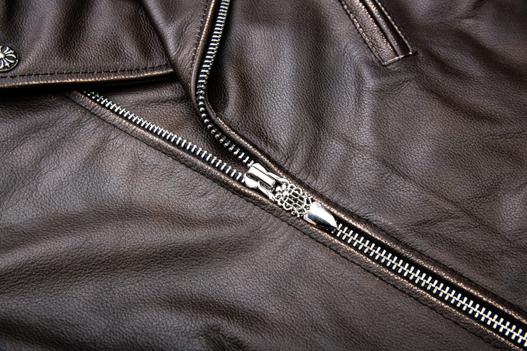 HTB1lW3ppXkoBKNjSZFkq6z4tFXaG MAPLESTEED Brown Distressed Motorcycle Jacket Men 100% Calf Skin Classic Slim Leather Jacket Man Moto Biker Coat Winter 5XL M190