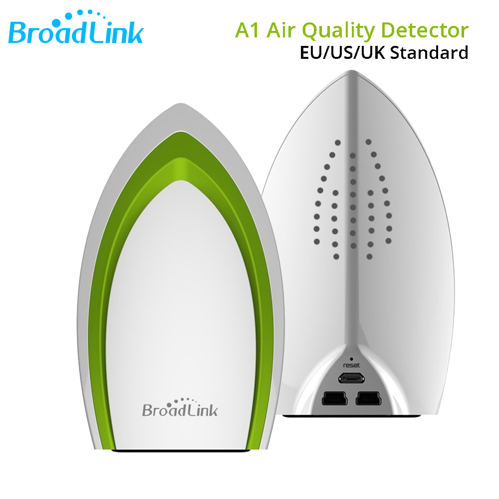 Broadlink A1 E-air WIFI Air Quatily érzékelő hőmérséklet páratartalom érzékelő 4G vezeték nélküli távirányító automatizálási modulrendszer