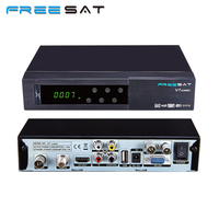 Original Freesat V7 Combo Satellite Receiver DVB S2+DVB T2 Support PowerVu Biss Key CCcam Newcam Youtube + Freesat V7 USB WIFI