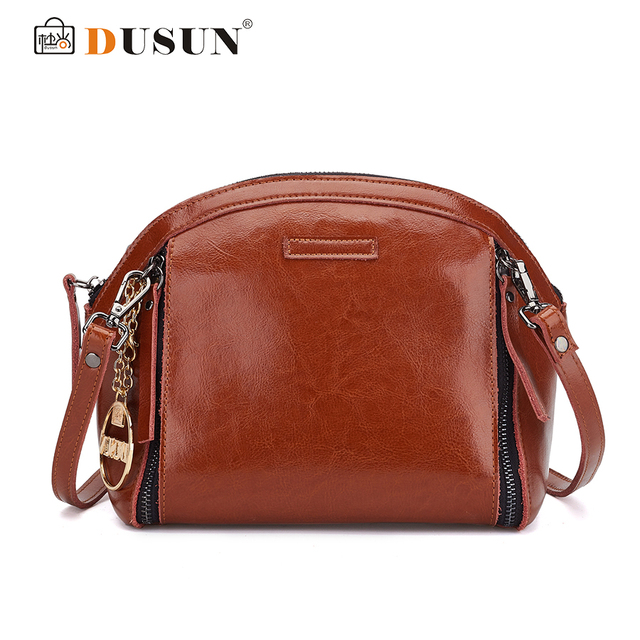 d0e7eb1ca8d0 DUSUN Genuine Leather Messenger Bag Women Shoulder Bags Designer Female  Vintage Fashion Harajuku Crossbody Simple Bags Woman
