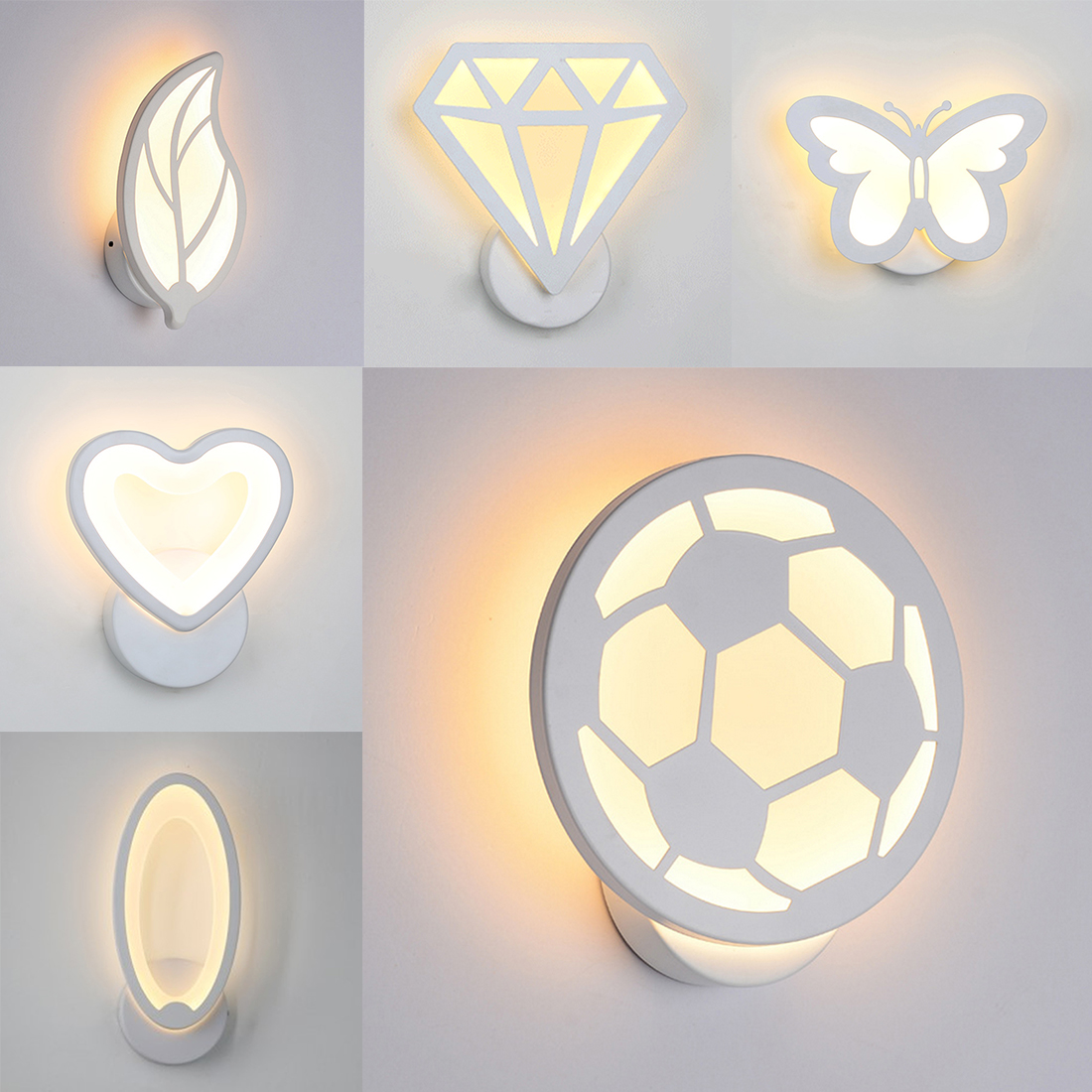 1pc 12W LED Acrylic wall light LED wall lamp bedside room bedroom wall lamps arts Postmodern minimalist creative Led wall lamp lovely plane wall lamp creative arts cartoon wall lamp the bedroom of children room lamps led night light on a bedside lamp