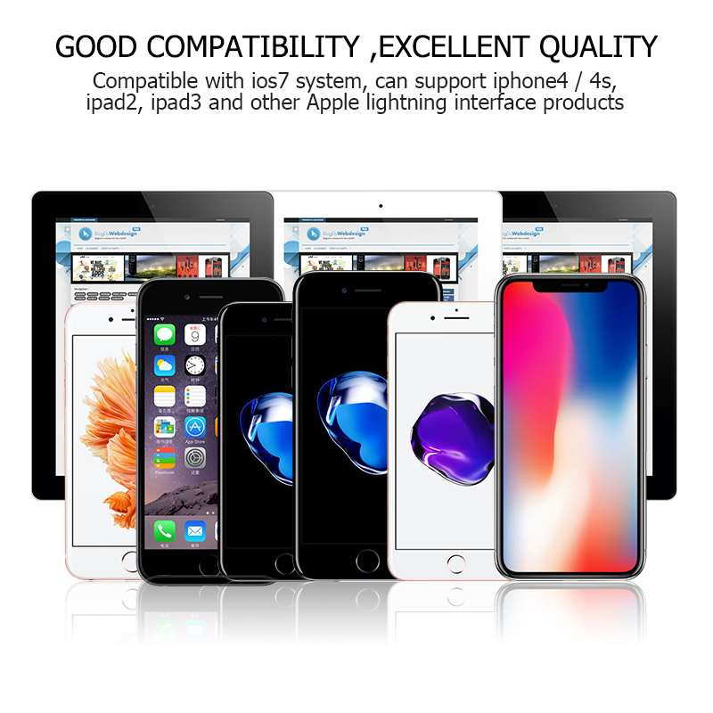 Crouch for iPhone Cable USB for 90 degree L Bending USB Fast Charging Cable For iPhone 5 6 7 Right Angle for iPad 2017 Air mini