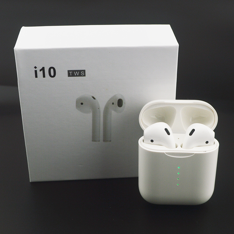 i10 Tws Wireless Bluetooth 5.0 Earbuds Earphone Auto Turn On/off Wireless Charging with Mic Charging Box For Android iPhone iPad(China)