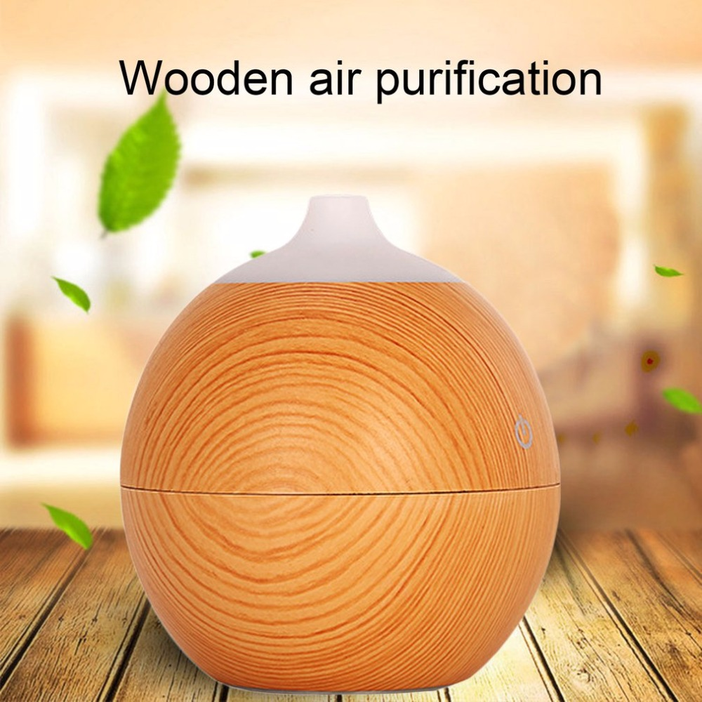 купить 130ML Aroma Diffuser Wood Grain Air Moistener With Night Light Essential Oil Diffuser USB Charging Mist Maker For Office Home по цене 975.08 рублей