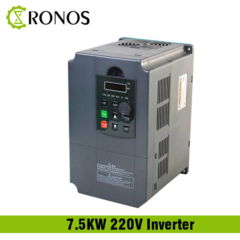 Entrée monophasé 220 V 7.5KW et convertisseur de fréquence de sortie de 3 phases/variateur de vitesse réglable/convertisseur de fréquence/VFD