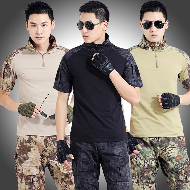 Summer Camouflage Suit for Men Tactical Jacket Pants Male Military Uniform Army Clothing CS Outdoors Tactical Military Uniform lurker shark skin soft shell v4 military tactical jacket men waterproof windproof warm coat camouflage hooded camo army clothing