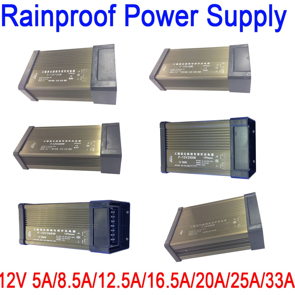 Rainproof Outdoor Power Switch AC 110V 220V to DC12V AC to DC Constant Voltage LED Power 12V 5A 8.5A 12.5A 16.5A 20A 25A 33A 41ARainproof Outdoor Power Switch AC 110V 220V to DC12V AC to DC Constant Voltage LED Power 12V 5A 8.5A 12.5A 16.5A 20A 25A 33A 41A