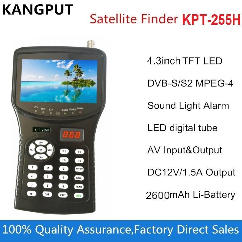 Kangput kpt 255h satfinder hd replace satellite finder 4.3 inch DVB S/S2 signal test with av usb hd output Satellite TV receiveT