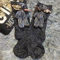 2016 Fashion Socks Handmade Custom New Multicolor Cute Bear Doll Models Selling Short Tube Piles Of