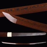 Red Damascus Katana Blade Japanese Samurai Sword DIY Fitting Sharp Full Tang Espadas Blade Customize A Unique Katana Sword