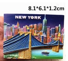 New York viaduct tourist souvenir refrigerator stickers