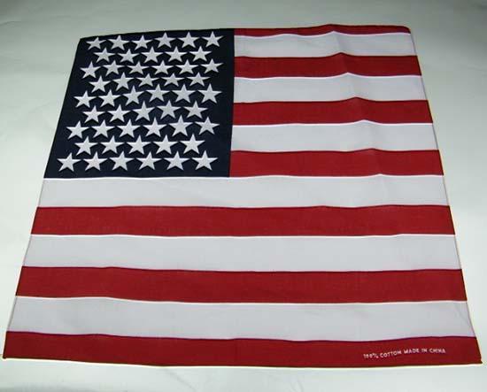 20 Pcs 100% Cotton Paisley Bandanas Double Sided Head Wrap Scarf Wristband American Flag Facecloth Free Shipping Wholesale